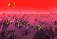 SATIRE ILLUSTRATION - Polish artist Pawel Kuczynski creates thought-provoking illustrations that comment on social, economic, and political issues through satire. Art And Illustration, Christmas Illustration, Satirical Cartoons, Satirical Illustrations, Art Illustrations, Political Cartoons, Art Du Monde, Powerful Art, Question Everything