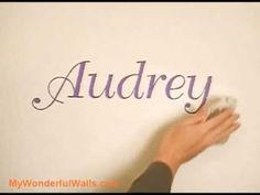 Great technique for painting letters (or anything really) on your walls.  This is awesome!