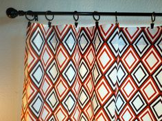 Curtains  Drapes Brown and Orange Pair 50 x 84  by SewModish, $130.00