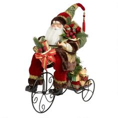 """One of my favorite discoveries at ChristmasTreeShops.com: 20"""" Santa with Gifts on Tricycle"""