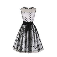 Summer Gothic Sexy Elegant Vintage Plus Size Party Women Midi Dresses Polka Dots Mesh Print Sweet Female Retro Chic Goth Dress Ball Gown Dresses, Tulle Dress, Dress Skirt, Midi Dresses, Vintage Ball Gowns, Vintage Dresses, Lovely Dresses, Vestidos Rockabilly, Midi Skater Dress