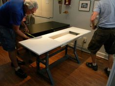 sewing tables ikea and sewing on pinterest. Black Bedroom Furniture Sets. Home Design Ideas