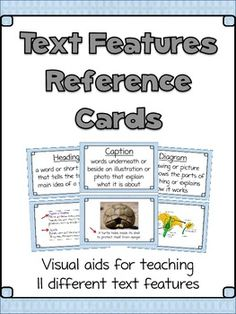 Set of 11 illustrated posters for teaching non-fiction Text Features. Includes student worksheet.