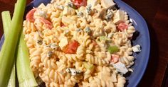This Vegetarian Buffalo Pasta Salad, which is served cold, is perfect on hot summer days when you still want buffalo flavor but not all of the heat.