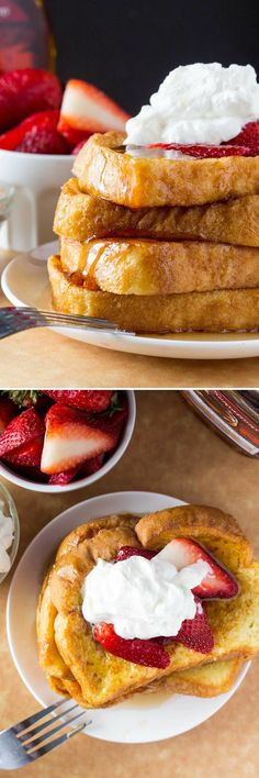 The BEST French Toast - fluffy, buttery, golden brown, topped with maple syrup and the best reason to get out of bed! Try making with Jimmy John's Day Old Bread for a cheap and easy breakfast!