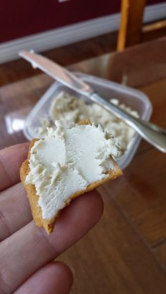 making cream cheese from powdered milk. great way to use that powdered milk in your food storage!!