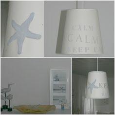 Lampenschirm aus Tapetenrest / Lamp shade made of wallpaper waste