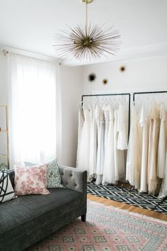 Can we move into Manderley Design Co.'s chic designed The Dress Theory in Seattle ASAP? | Photography: Matthew Land Studios - Matthew Land Studios