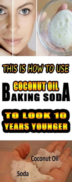 Coconut Oil Uses - This Is How To Use Coconut Oil And Baking Soda To Look 10 Years Younger! 9 Reasons to Use Coconut Oil Daily Coconut Oil Will Set You Free — and Improve Your Health!Coconut Oil Fuels Your Metabolism! Natural Facial Cleanser, Natural Skin, Natural Beauty, Natural Makeup, Natural Face Exfoliator, Diy Face Exfoliator, Homemade Face Cleanser, Organic Makeup, Natural Red