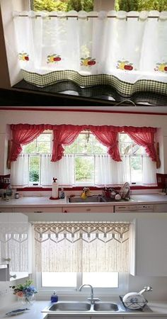 How to Choose the Perfect Curtain for your Kitchen Cool Curtains, Window Curtains, Curtain Designs, Kitchen Curtains, Blinds, Windows, Sweet, Ideas, Home Decor