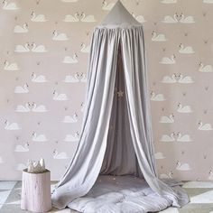 Our one of a kind baby canopy is perfect for hanging over a baby bed and making a magical zone for your little one. Unusual decoration of children's room. Baby Canopy, Canopy Tent, Canopies, Nursery Wallpaper, Kids Wallpaper, Cotton Bedding, Linen Bedding, Bed Linen, Comforter