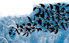 Fauna del reino de las tuberías (ilustración: Raúl Sagospe)