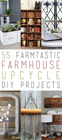 Grab a cup of your favorite brew because you are going to want to take in everyone of these 55 Farmtastic Farmhouse Upcycle DIY Projects ala Fixer Upper Style! We have a great selection for you!  Don't you love when any object gets a second life that was even better than the first all because …