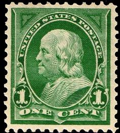 US stamps 279 1898 Franklin