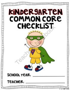 Kindergarten Common Core Checklist from Rulin' the Roost on TeachersNotebook.com (62 pages)  - Common Core Checklist