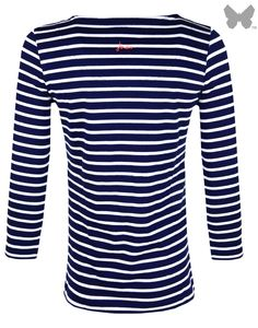 Joules Ladies' Harbour Striped Jersey Top - Navy S_HARBOUR | Country Attire