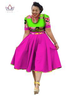 Cộng với Kích Thước Quần Áo 2017 mùa xuân Váy Phi In Áo Dashiki cho Phụ Nữ Bazin Riche Vestidos Femme Váy Cộng Với Kích Thước BRW WY733