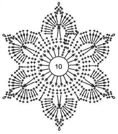 Dresses Free Crochet Pattern With Crochet Snowflake Pattern, Crochet Snowflakes, Crochet Flower Patterns, Crochet Squares, Crochet Granny, Irish Crochet, Crochet Flowers, Crochet Diagram, Crochet Chart