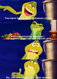 ThePrincessAndTheFrog: you have had quite an influence on me ...