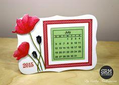 Poppies Mini Calendar Tutorial by Cathy A.