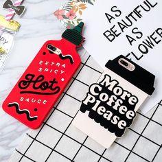 Cartoon 3D Cute Chili Sauce Tape Silicone Soft Case Cover For Iphone 8 7 6S Plus #iphone8plus, #iphone6splus,