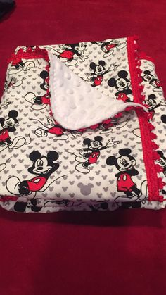 Selfie photo print fabric Minky on one side cotton on the other 30 in by 38 in Quilt Baby, Baby Girl Quilts, Rag Quilt, Mickey Mouse Blanket, Mickey Mouse Nursery, Baby Mickey, Disney Quilt, Disney Bedding, Baby Pillows