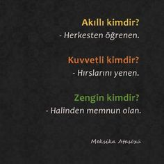 Learn Turkish Language, Beauty Quotes, Meaningful Words, Islamic Quotes, Motto, Karma, Picture Quotes, Chalkboard Quotes, Philosophy