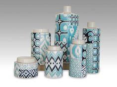Craig Anczelowitz - Ikat blue mix ceramics