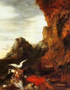 Gustave Moreau (French, 1826-1898). La mort de Sappho