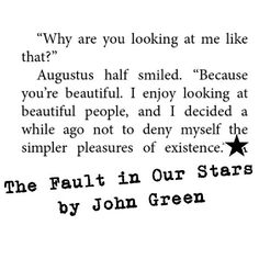 Hazel Grace and Augustus Waters  The Fault in Our Stars by John Green