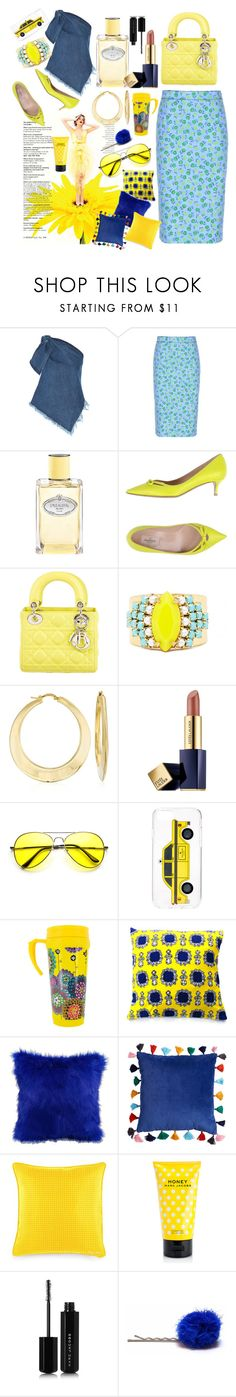 """""""Pop Thoughts"""" by pulseofthematter ❤ liked on Polyvore featuring Marques'Almeida, Prada, Valentino, Christian Dior, Sandy Hyun, Ross-Simons, Estée Lauder, Kate Spade, Perky and Ralph Lauren"""