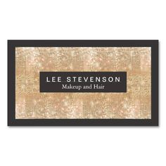 Gold Sparkly FAUX Sequins Makeup Artist Salon Business Card The post Gold Sparkly FAUX Sequins Makeup Artist Salon Business Card Zazzlecom appeared first on Woman Casual - Makeup Recipes Fashion Business Cards, Beauty Business Cards, Gold Business Card, Salon Business Cards, Hairstylist Business Cards, Makeup Artist Business Cards, Custom Business Cards, Business Card Design, Creative Business