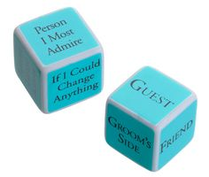 Bridal Shower Game Dice - Marry Me Wedding Accessories & Gifts - 1