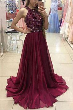 Prom Dresses 2019 #PromDresses2019, Custom Made Prom Dresses #CustomMadePromDresses, A-Line Prom Dresses #ALinePromDresses, Chiffon Prom Dresses #ChiffonPromDresses, Burgundy Prom Dresses #BurgundyPromDresses