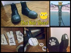 Hey guys, Here we go! Here's an afternoon project to keep all you Chats busy this was a quick buil Cosplay Boots, Epic Cosplay, Cosplay Diy, Cosplay Outfits, Cosplay Costumes, Cosplay Ideas, Costume Tutorial, Cosplay Tutorial, Catty Noir