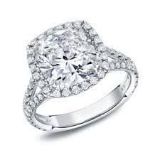 Image result for cushion cut double shaft platinum vintage engagement ring with wedding band