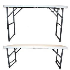 Outdoor Folding Table 4ft Garden Patio Adjustable Furniture