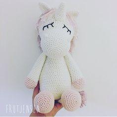 WEBSTA @ frutjensen - ✨ Have a MAGICAL friday! #hæklet #crochet #unicorn #hækletlegetøj #pigeværelse #tilvoreskommendeniece #frutjensen