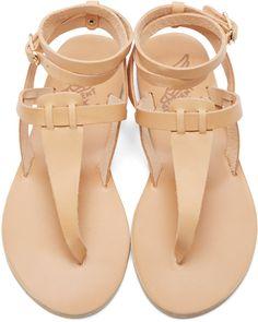 2653dddb6 Ancient Greek Sandals Beige Leather Estia Sandals Ancient Greek Sandals