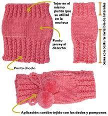 Resultado de imagen de guantes tejidos crochet sin dedos Fingerless Gloves Knitted, Crochet Gloves, Knitted Slippers, Knit Mittens, Knitted Hats, Knit Crochet, Knit Slippers Free Pattern, Mittens Pattern, Crochet Leg Warmers