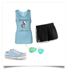 """""""Active Pit Bull"""" by aggie-tessa on Polyvore featuring Under Armour, Ray-Ban and Converse"""