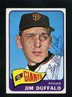 1965 Topps Baseball #159 JIM DUFFALO Card SIGNED San Francisco Giants Autograph