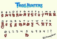 Trollhunters Characters, Silouette Cameo Projects, Fictional Languages, Rune Tattoo, Dreamworks Movies, Letter Symbols, To Strive, Character Poses, Weird Creatures