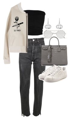 """Untitled #21975"" by florencia95 ❤ liked on Polyvore featuring Linda Farrow, Vetements, Laneus, Yves Saint Laurent, adidas and Gucci"