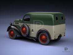 A Garagem Digital de Dan Palatnik | The Digital Garage Project: 1950 Ford 5cwt van