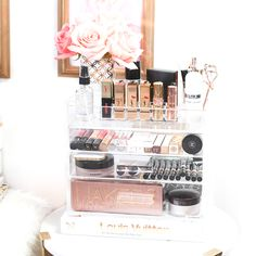 How I Store My Make-Up Collection with Glamboxes #bblogger #makeupcollection #beautyblog