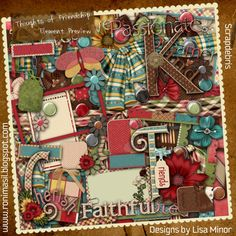 Thoughts of Friendship Digital Scrapbook Kit by DesignsbyLisaMinor, $5.00