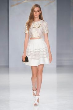 Genny at Milan Fashion Week Spring 2014 - StyleBistro. want a skirt like this, maybe not in white though