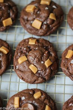 Salted Caramel Stuffed Chocolate Cookies Recipe on Yummly