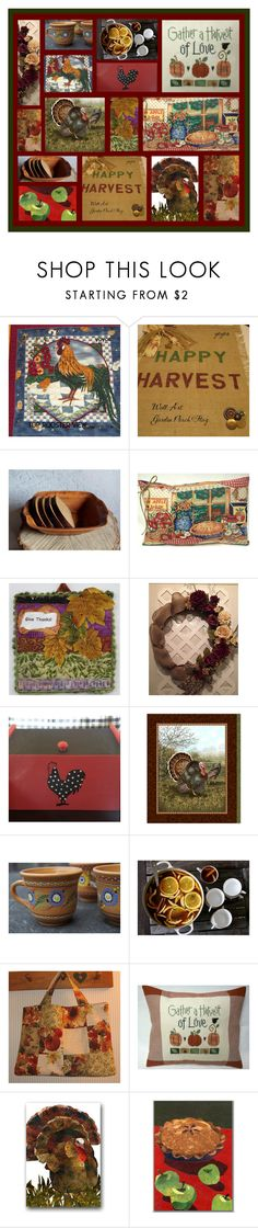 """HAPPY THANKSGIVING EVERYONE!"" by tornpaperco ❤ liked on Polyvore featuring interior, interiors, interior design, home, home decor, interior decorating, Hostess, etsy, etsyseller and celebrationtimes"